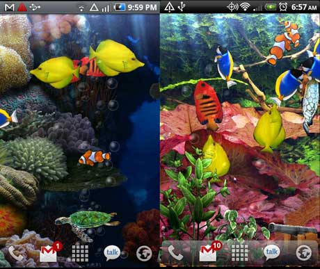Живые обои для Android - Aquarium Live Wallpaper