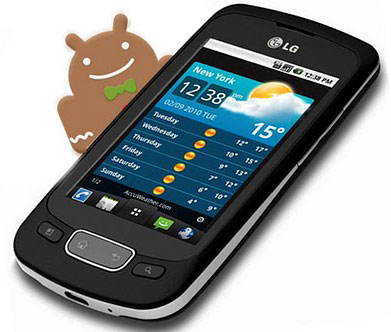 LG p500 android 2.3