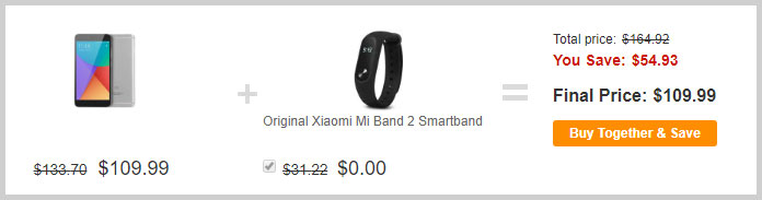 Note 5A и mi band 2 за 109.99$