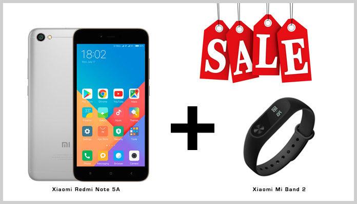 Акция при покупке Xiaomi Redmi Note 5A